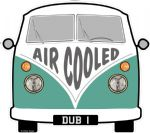 AIR COOLED Slogan For Retro SPLIT SCREEN VW Camper Van Bus Design External Vinyl Car Sticker 90x80mm